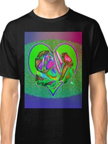 Glam green heart  Classic T-Shirt