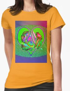 Glam green heart  Womens Fitted T-Shirt