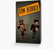 Team Bedrock Poster Greeting Card