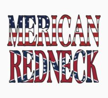 Merican Redneck USA Confederate Flag by FireFoxxy