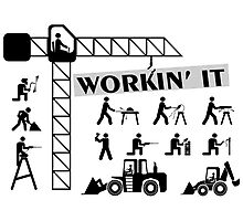 Workin It Blue Collar Workers Photographic Print
