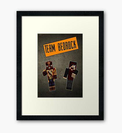 Team Bedrock Poster Framed Print