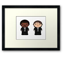 Cartoon Friends: Jules and Vincent Framed Print