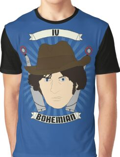 Doctor Who Portraits - Fourth Doctor - Bohemian Graphic T-Shirt