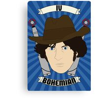 Doctor Who Portraits - Fourth Doctor - Bohemian Canvas Print