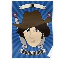 Doctor Who Portraits - Fourth Doctor - Bohemian Poster