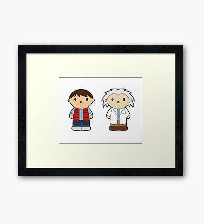 Cartoon Friends: Marty and Doc Framed Print