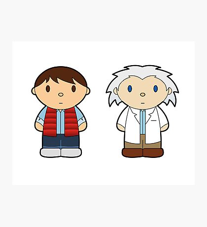 Cartoon Friends: Marty and Doc Photographic Print