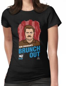 Ron Swanson's BrunchOut Womens Fitted T-Shirt