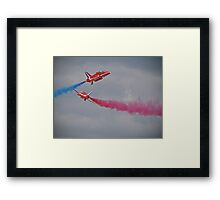 Red Arrows Close Pass - Dunsfold 2012 Framed Print