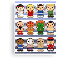Cartoon Friends: Street Fighter Canvas Print