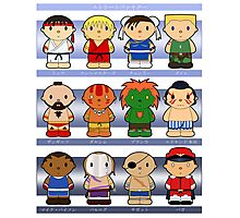Cartoon Friends: Street Fighter Photographic Print