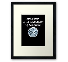 Mrs. Barton SHIELD Agent (Of Some Kind) Framed Print