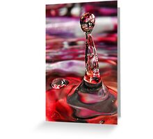 Water Drop I Greeting Card