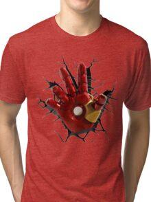 Iron man's hand Tri-blend T-Shirt