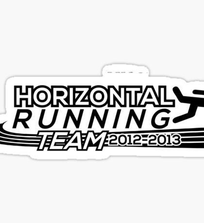 Horizontal Running Team Sticker