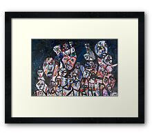Many faces of chris newson Framed Print