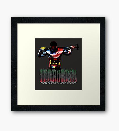 smash terrorism Framed Print