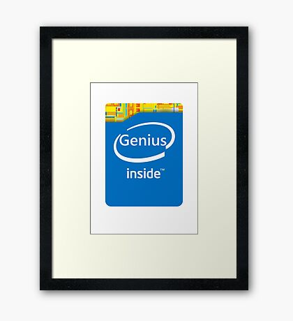 Genius inside Framed Print