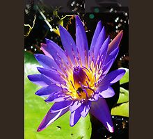 Purple water lily vertical view T-Shirt