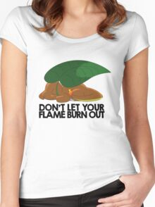 Don't let your flame burn out Women's Fitted Scoop T-Shirt