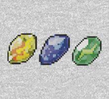 Pokemon Evolution Stones by Flaaffy