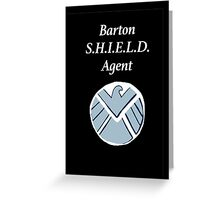 Barton SHIELD Agent Greeting Card