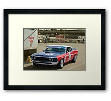 Red White and and Blue Mustang Framed Print