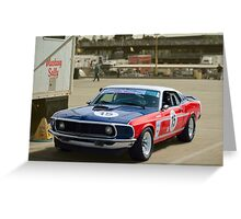 Red White and and Blue Mustang Greeting Card