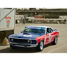 Red White and and Blue Mustang Photographic Print