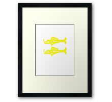 Blue Barracudas Framed Print