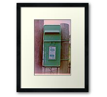 Irish Postbox Framed Print