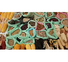 Beans Corn and Potatoes Photographic Print