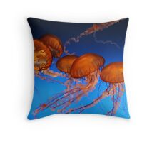 the beauty of the ocean Throw Pillow