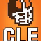 8-BIT Cleveland Helmet by WeBleedOhio