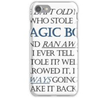 The Daft Old Man who Stole a Magic Box iPhone Case/Skin