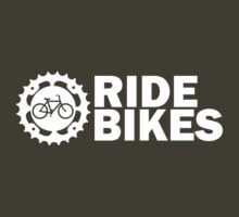 Ride Bikes - Bicycles and Cogs (dark)  by KraPOW
