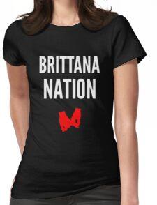 Brittana Nation (dark shirts) Womens Fitted T-Shirt