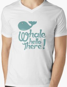 """""""Whale Hello There"""" - Typographical variant. Mens V-Neck T-Shirt"""