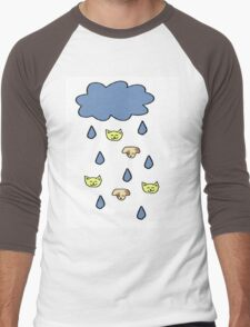 It's Raining Cats and Dogs Men's Baseball ¾ T-Shirt