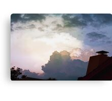 Rooftop view Canvas Print