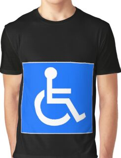Disabled Access Symbol Graphic T-Shirt