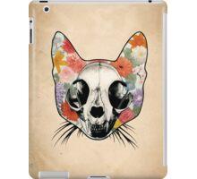 Floral Cat Skull - Grunge iPad Case/Skin