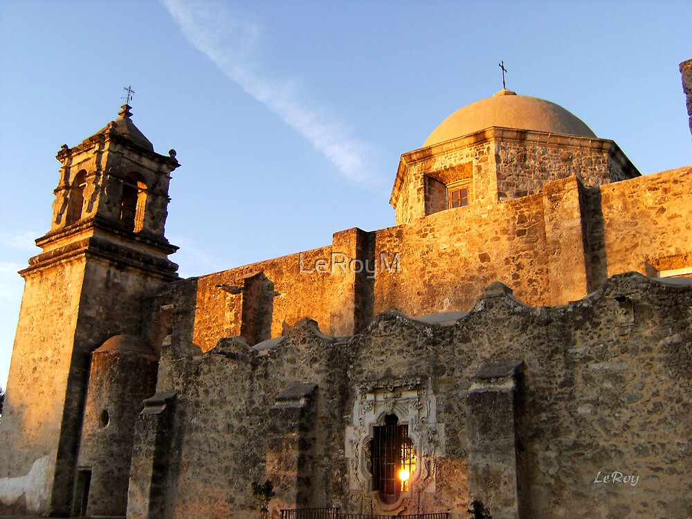 Mission San Jose at Sunset by LeRoyM