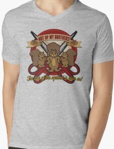 Day of the Squirrel - Sears Squirrel Commercial Parody - Coupon Cutting Squirrels Revolt - Nut Up My Brothers Mens V-Neck T-Shirt