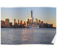 Cruise Ship Norwegian Gem On The Hudson Rv. At Sunrise Poster