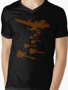 The Guitar Bomber Mens V-Neck T-Shirt