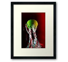 Water + Lemon Framed Print
