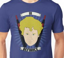 Doctor Who Portraits - Sixth Doctor - Defiance Unisex T-Shirt