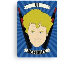 Doctor Who Portraits - Sixth Doctor - Defiance Canvas Print